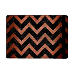 Chevron9 Black Marble & Copper Brushed Metal Apple Ipad Mini 2 Flip Case by trendistuff