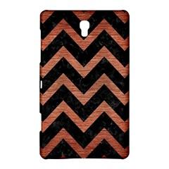 Chevron9 Black Marble & Copper Brushed Metal Samsung Galaxy Tab S (8 4 ) Hardshell Case