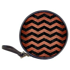 Chevron3 Black Marble & Copper Brushed Metal Classic 20 Cd Wallet by trendistuff