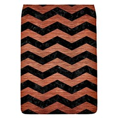 Chevron3 Black Marble & Copper Brushed Metal Removable Flap Cover (s) by trendistuff