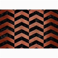Chevron2 Black Marble & Copper Brushed Metal Collage 12  X 18