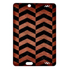 Chevron2 Black Marble & Copper Brushed Metal Amazon Kindle Fire Hd (2013) Hardshell Case by trendistuff