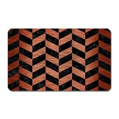 CHV1 BK MARBLE COPPER Magnet (Rectangular) by trendistuff