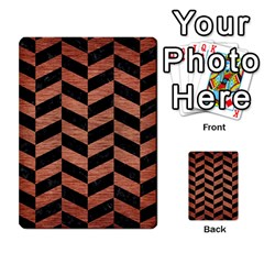 Chevron1 Black Marble & Copper Brushed Metal Multi Purpose Cards (rectangle)