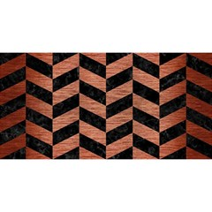 Chevron1 Black Marble & Copper Brushed Metal You Are Invited 3d Greeting Card (8x4) by trendistuff