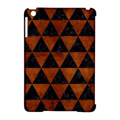 Triangle3 Black Marble & Brown Burl Wood Apple Ipad Mini Hardshell Case (compatible With Smart Cover) by trendistuff