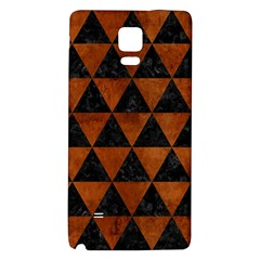 Triangle3 Black Marble & Brown Burl Wood Samsung Note 4 Hardshell Back Case