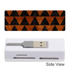 Triangle2 Black Marble & Brown Burl Wood Memory Card Reader (stick) by trendistuff