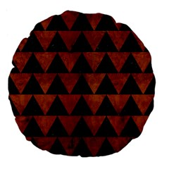 Triangle2 Black Marble & Brown Burl Wood Large 18  Premium Flano Round Cushion  by trendistuff