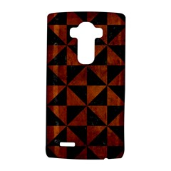 Triangle1 Black Marble & Brown Burl Wood Lg G4 Hardshell Case
