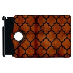 Tile1 Black Marble & Brown Burl Wood (r) Apple Ipad 3/4 Flip 360 Case by trendistuff
