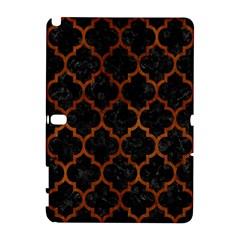 Tile1 Black Marble & Brown Burl Wood Samsung Galaxy Note 10 1 (p600) Hardshell Case by trendistuff