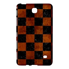 Square1 Black Marble & Brown Burl Wood Samsung Galaxy Tab 4 (7 ) Hardshell Case  by trendistuff