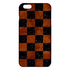Square1 Black Marble & Brown Burl Wood Iphone 6 Plus/6s Plus Tpu Case
