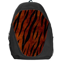 Skin3 Black Marble & Brown Burl Wood (r) Backpack Bag by trendistuff