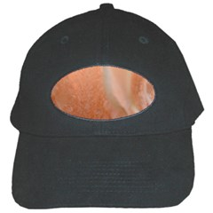 Floating Subdued Peach Black Cap by timelessartoncanvas