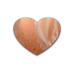 Floating Subdued Peach Heart Coaster (4 Pack)  by timelessartoncanvas