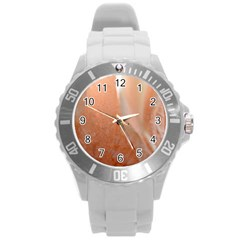 Floating Subdued Peach Round Plastic Sport Watch (l) by timelessartoncanvas
