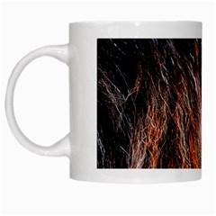 Black Red Hair White Mugs by timelessartoncanvas