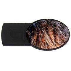 Black Red Hair Usb Flash Drive Oval (2 Gb)  by timelessartoncanvas