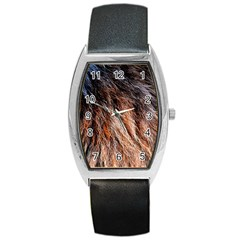 Black Red Hair Barrel Metal Watches by timelessartoncanvas