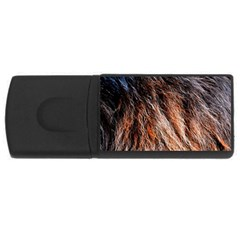 Black Red Hair Usb Flash Drive Rectangular (4 Gb)  by timelessartoncanvas