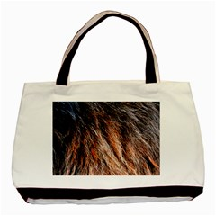Black Red Hair Basic Tote Bag by timelessartoncanvas