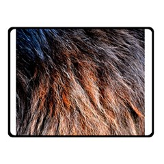 Black Red Hair Double Sided Fleece Blanket (small)  by timelessartoncanvas