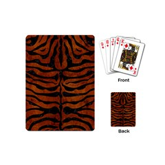 Skin2 Black Marble & Brown Burl Wood (r) Playing Cards (mini) by trendistuff