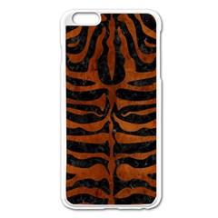 Skin2 Black Marble & Brown Burl Wood Apple Iphone 6 Plus/6s Plus Enamel White Case