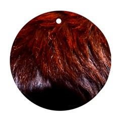 Red Hair Round Ornament (two Sides)  by timelessartoncanvas