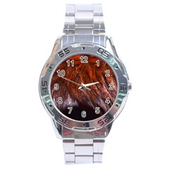 Red Hair Stainless Steel Men s Watch by timelessartoncanvas