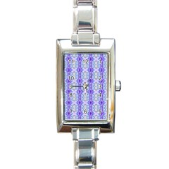 Light Blue Purple White Girly Pattern Rectangle Italian Charm Watches by Costasonlineshop