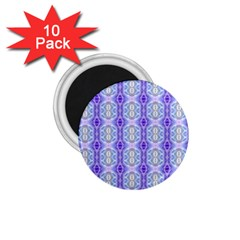 Light Blue Purple White Girly Pattern 1.75  Magnets (10 pack)  by Costasonlineshop