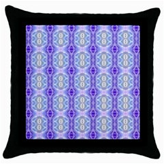 Light Blue Purple White Girly Pattern Throw Pillow Cases (black)