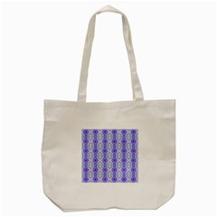 Light Blue Purple White Girly Pattern Tote Bag (cream)