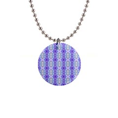 Light Blue Purple White Girly Pattern Button Necklaces by Costasonlineshop