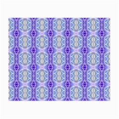 Light Blue Purple White Girly Pattern Small Glasses Cloth (2 Side)