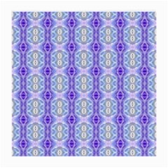 Light Blue Purple White Girly Pattern Medium Glasses Cloth (2 Side) by Costasonlineshop