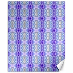 Light Blue Purple White Girly Pattern Canvas 11  X 14