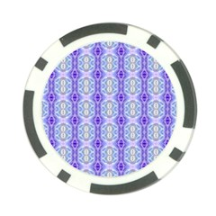 Light Blue Purple White Girly Pattern Poker Chip Card Guards