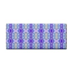 Light Blue Purple White Girly Pattern Hand Towel by Costasonlineshop
