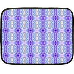 Light Blue Purple White Girly Pattern Fleece Blanket (mini)
