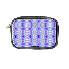 Light Blue Purple White Girly Pattern Coin Purse by Costasonlineshop