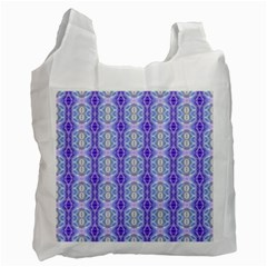 Light Blue Purple White Girly Pattern Recycle Bag (one Side) by Costasonlineshop