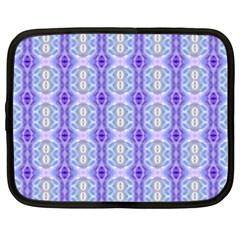 Light Blue Purple White Girly Pattern Netbook Case (xxl)