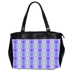 Light Blue Purple White Girly Pattern Office Handbags (2 Sides)  by Costasonlineshop