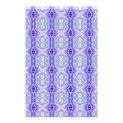 Light Blue Purple White Girly Pattern Shower Curtain 48  X 72  (small)  by Costasonlineshop
