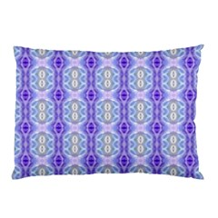 Light Blue Purple White Girly Pattern Pillow Cases (two Sides) by Costasonlineshop