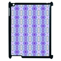 Light Blue Purple White Girly Pattern Apple Ipad 2 Case (black) by Costasonlineshop